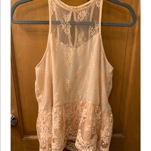 A&F Champagne Color Laced Tank Top